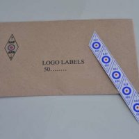 Diamond logo postal labels - 10 strips of 5 (50 self-adhesive labels)