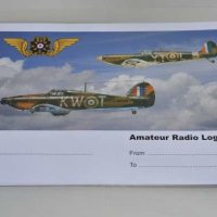 RAFARS logbooks - the Spitfire has the height but the Hurricane is ahead. 50 page double sided A4 landscape format