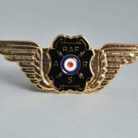 Wings badge - broach type fastening size approx 50mm x 16mm